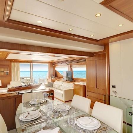 Aimilia yacht interior