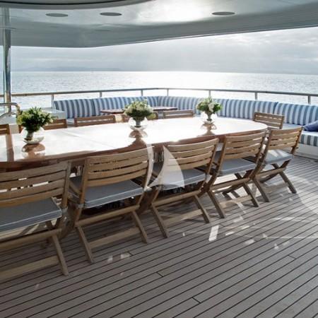 Alexandra yacht al fresco dining