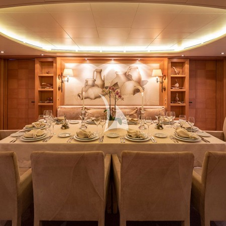Alexandra yacht dining area