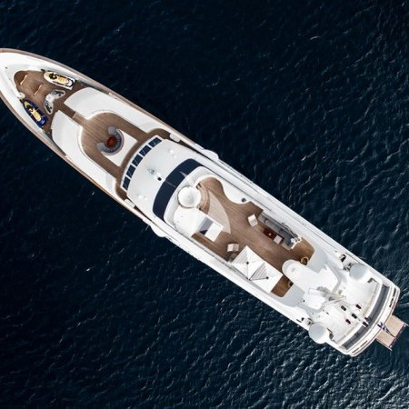 Alexandra yacht aerial view