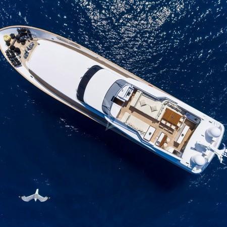 Alexia AV yacht aerial view