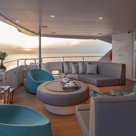 Aqua Libra 131 Yacht deck night
