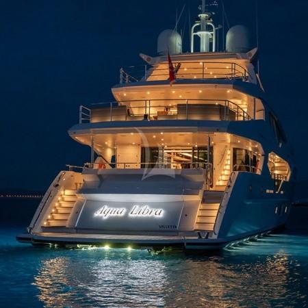 Aqua Libra 131 Yacht night