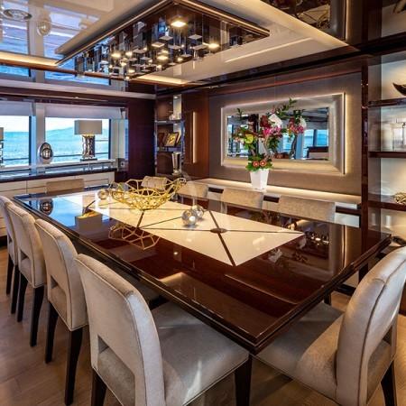 Aqua Libra 131 Yacht dining area