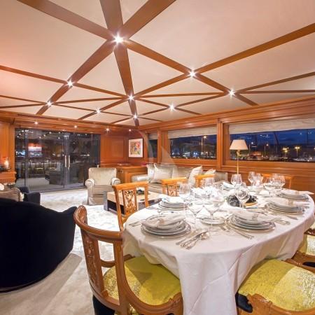 aquila superyacht formal dining