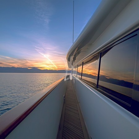 aquila superyacht sunset