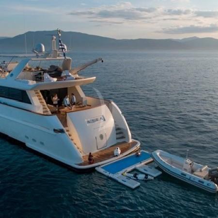 aquila superyacht back
