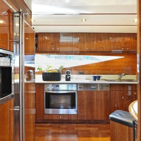 Atalanti yacht kitchen