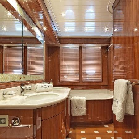 Atalanti yacht cabin