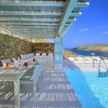 mykonos villa fokos beach