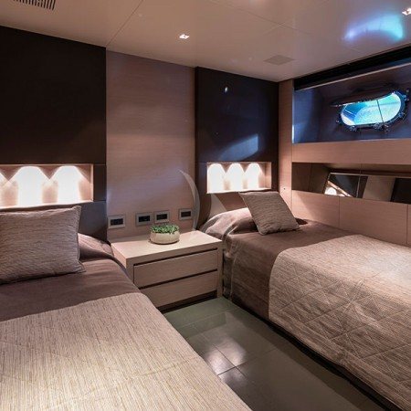 billa yacht Greece cabin