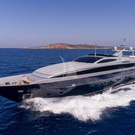 billa superyacht at the sea