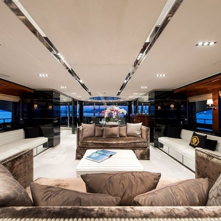 Bliss yacht indoor living area