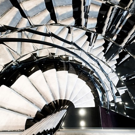 Bliss yacht stairs indoor