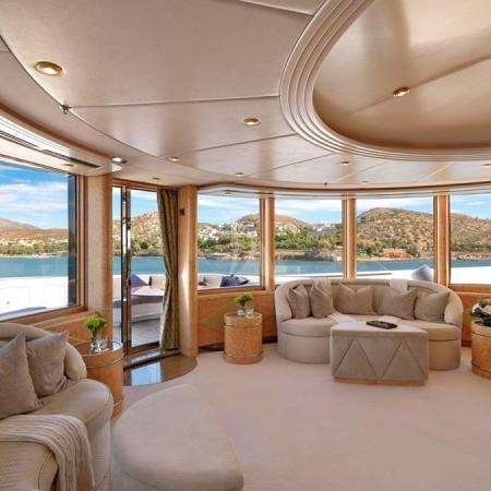 capri i yacht interior living area