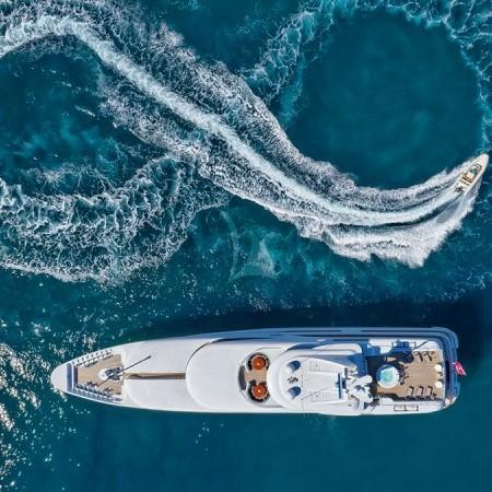 capri i yacht aerial view