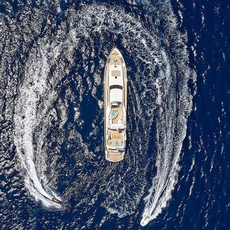Celia yacht aerial view