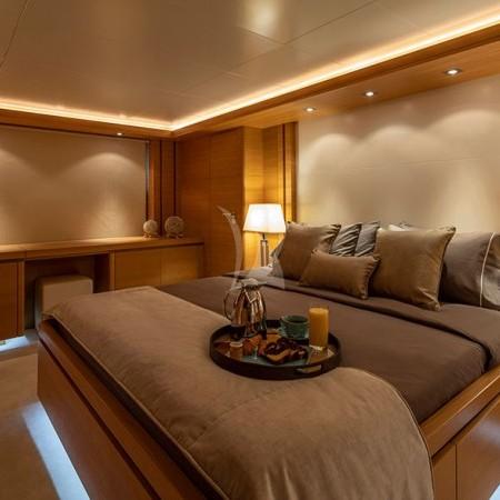 Celia yacht Greece cabin