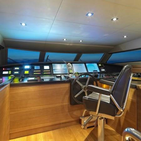Celia yacht Greece bridge