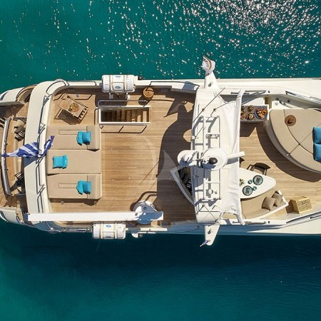 Celia yacht aerial deck view