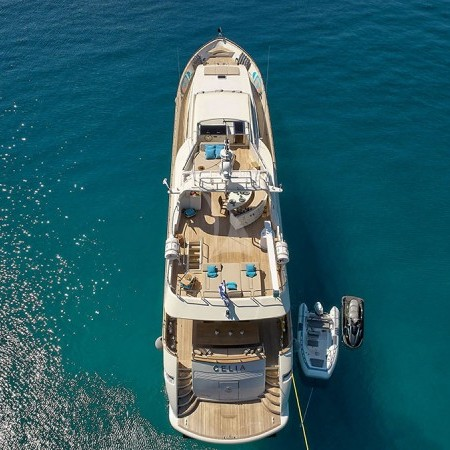 Celia luxury yacht aerial view