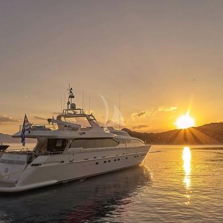 Celia yacht sunset