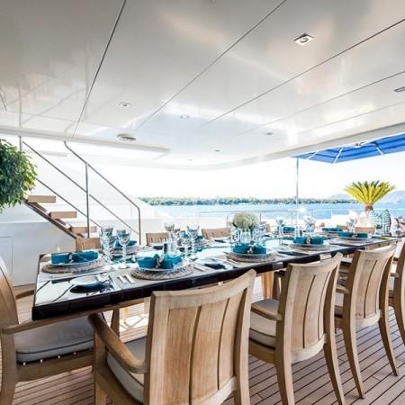 Clicia yacht deck