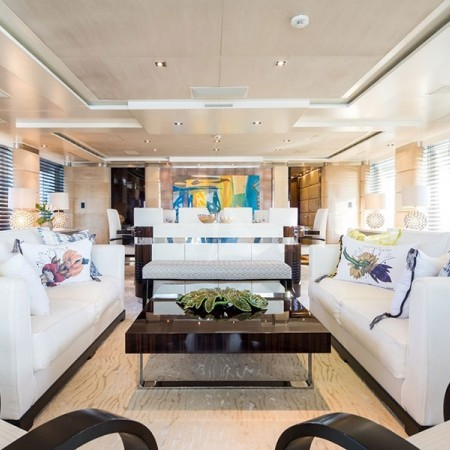 Clicia yacht charter in Greece main living area