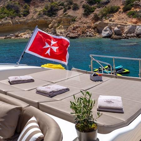 cosmos I yacht sunbathing area