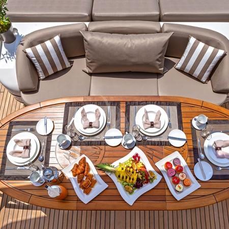 cosmos I yacht dining