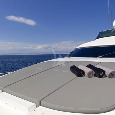 cudu yacht sunbathing area