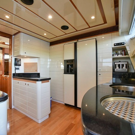 Ferretti 88 Day Off galley