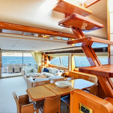 ferretti 88 interior salon