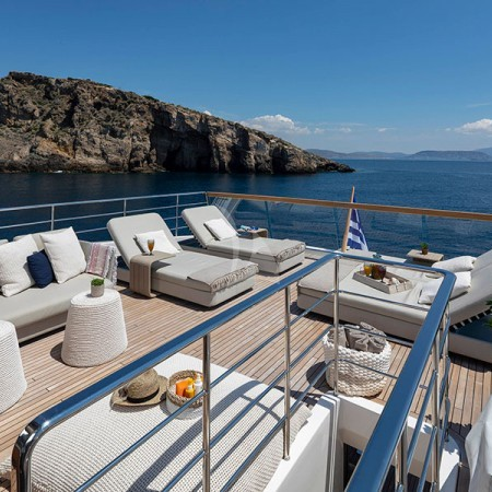 Dinaia yacht deck lounge