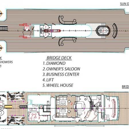 elegant 007 yacht layout