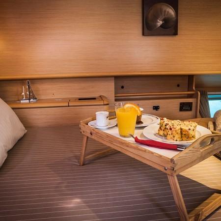 Lagoon catamaran sailing boat