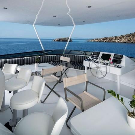 endless summer yacht  deck living area