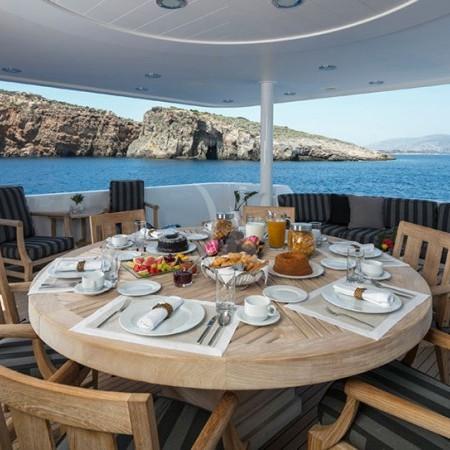endless summer yacht  sunbathing area