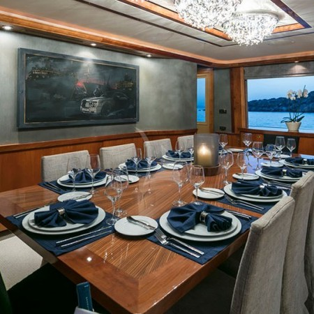 endless summer yacht indoor dining