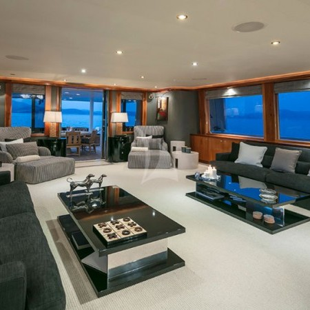 endless summer yacht indoor living area