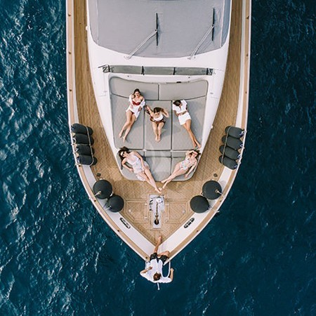 Freedom Yacht aerial photo