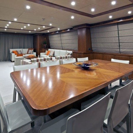 yacht dining area
