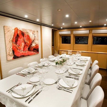 Ithaki yacht dining