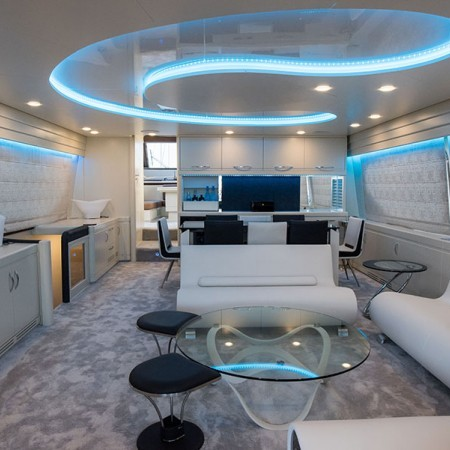 Johnny Handsome Yacht interior living area