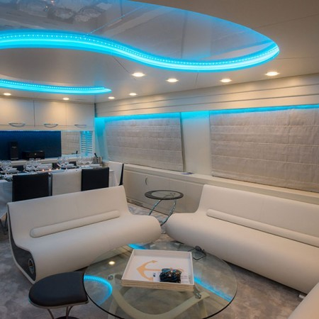 boat's living area