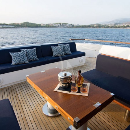 kabobs blue yacht deck