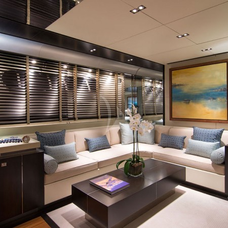 kabobs blue yacht living area