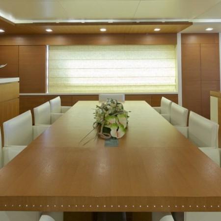 kintaro yacht dining area