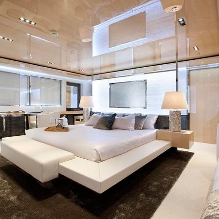 megayacht charter cabin