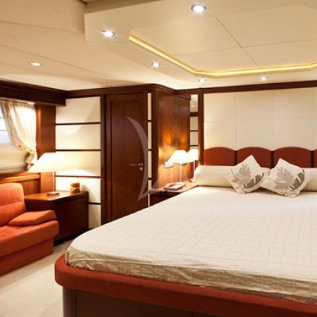 lady P super yacht cabin